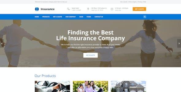 Bisune - Insurance Agent PSD Template