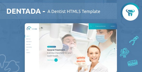 Dentada - A Dentist Responsive HTML5 Template