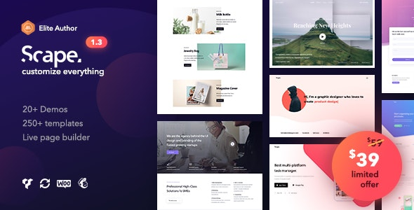 Scape - Multipurpose WordPress theme - Business Corporate