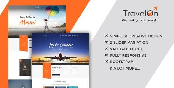 Travel On - Tourism HTML Template - Travel Retail