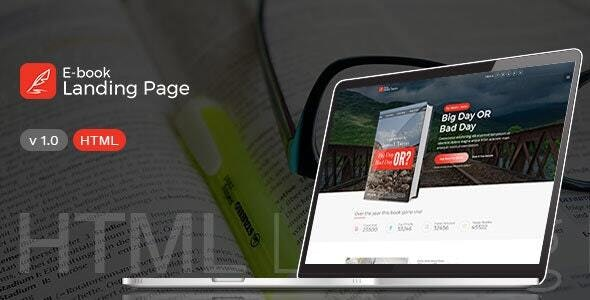 Books Landing Page - HTML Template - Corporate Site Templates