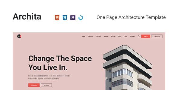 Archita — Architecture & Interior Design Template - Business Corporate
