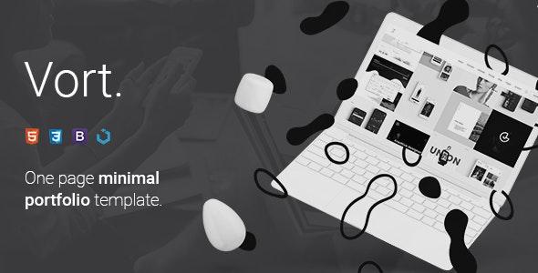 Vort — Minimal One Page Portfolio Template - Portfolio Creative