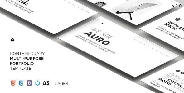 Auro — A Neat & Contemporary Multi-Purpose Template - Portfolio Creative