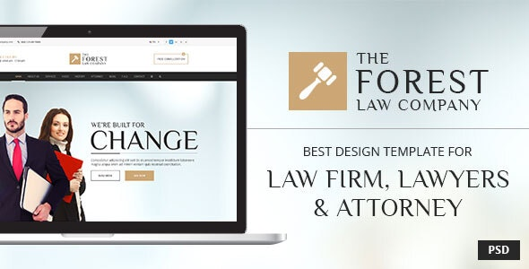 Forest Law - PSD Template - Corporate Photoshop