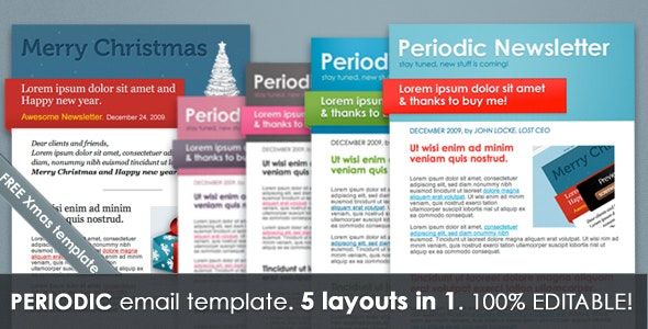 Periodic Newsletter 5 in 1 - Newsletters Email Templates