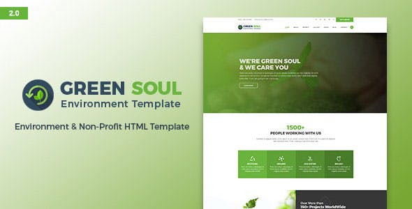 Green Soul - Environment and Nonprofit HTML Template