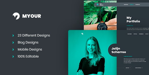Myour - Personal CV/Resume PSD Template - Personal Photoshop