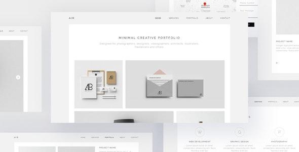 AIR - Minimal Portfolio Muse Template - Creative Muse Templates