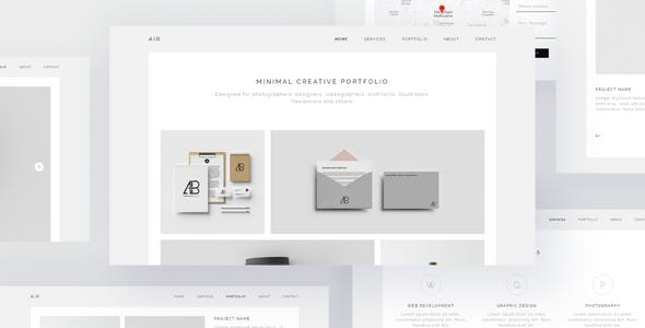 Download AIR - Minimal Portfolio Muse Template