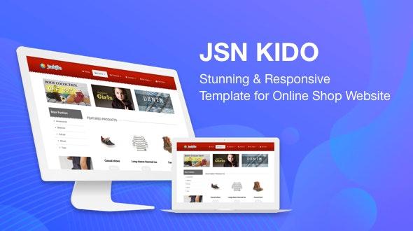 JSN Kido - Stunning & Responsive Joomla Template for Online Shop Website - Retail Joomla