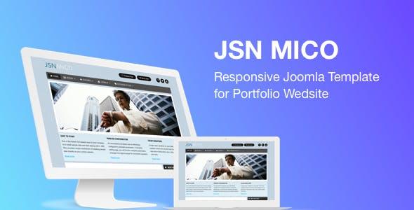 JSN Mico - Responsive Joomla Template for Portfolio Website