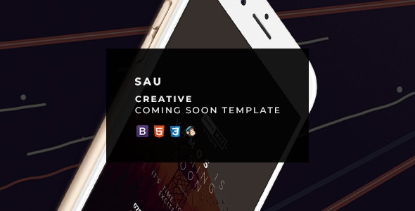 SAU - Creative Coming Soon Template - Under Construction Specialty Pages