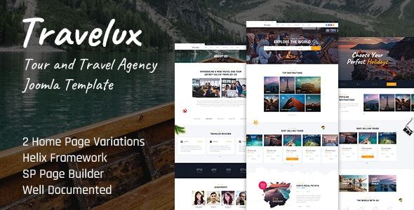 Travelux - Tour and Travel Agency Joomla Template - Travel Retail