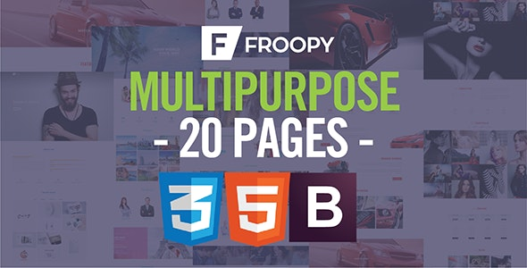 Froopy - One Page Responsive Multipurpose HTML5 - Creative Site Templates
