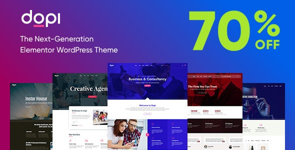 Dopi - Elementor MultiPurpose WordPress Theme - Creative WordPress