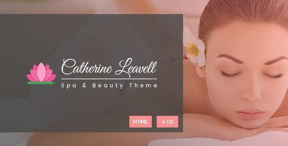Spa - Beauty Salon Landing Page - Health & Beauty Retail