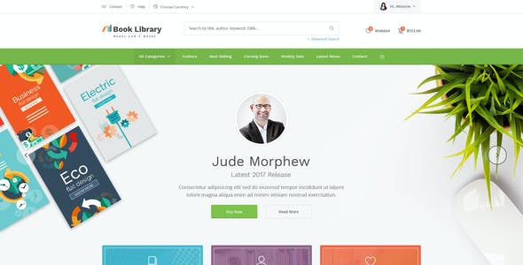 Biblio - Book Store PSD Template