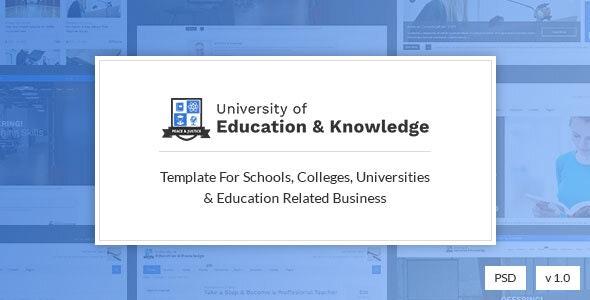 Learnos - Education PSD Template - Corporate Photoshop