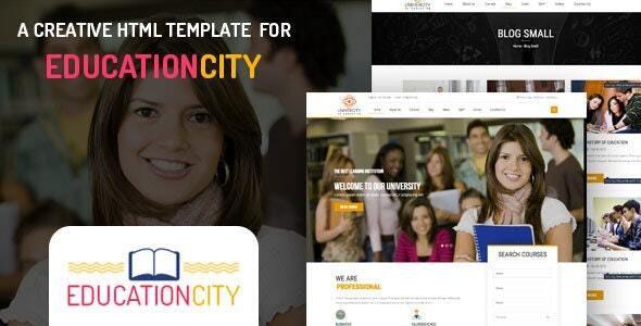 Education City –  University Learning & LMS HTML Template - Nonprofit Site Templates