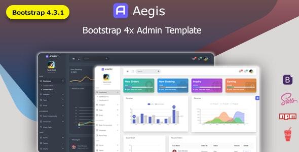 Aegis - Bootstrap 4 Multipurpose Admin Dashboard Template by redstartheme
