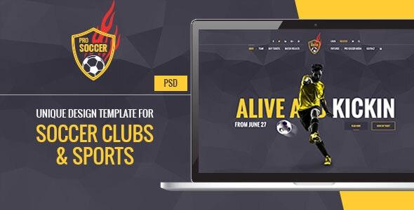 Soccer Acumen - Football Club PSD Template - Entertainment Photoshop