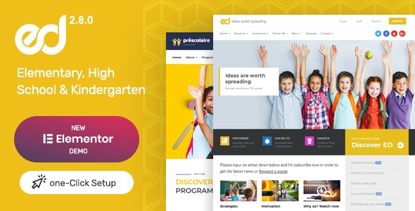Ed School: Education WordPress Theme - Education WordPress
