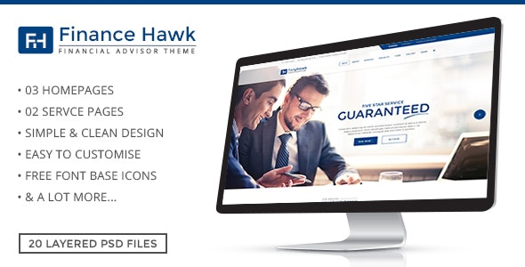 Finance Hawk - Business PSD Template - Corporate Photoshop