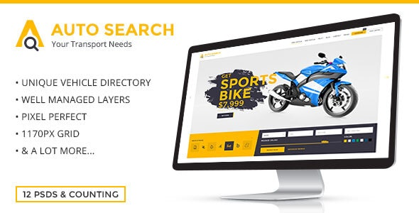 Auto Search - PSD Template for Car Dealers - Business Corporate