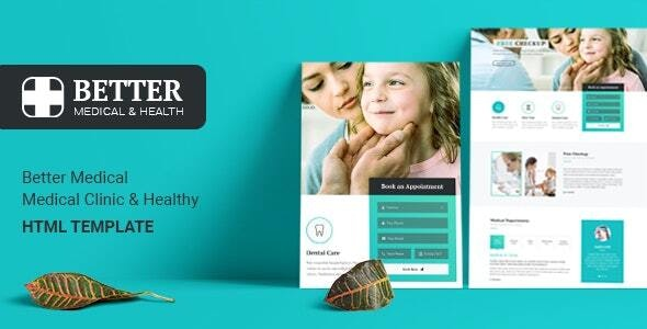 BetterX - Medical Clinic HTML Template - Health & Beauty Retail