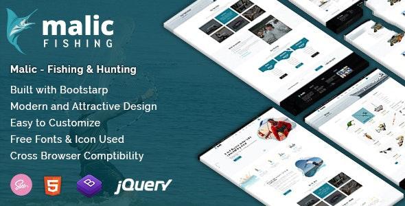Malic - Fishing & Hunting Club Joomla Template - VirtueMart Joomla