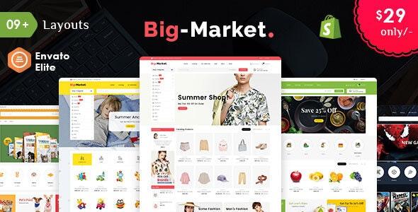 Big Market - Shopify Multi-Purpose Responsive Theme - Shopping Shopify