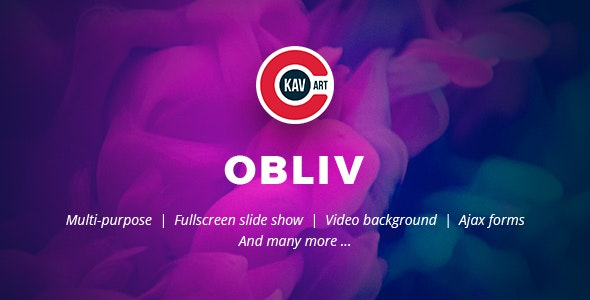 Obliv - Creative HTML Template - Creative Site Templates