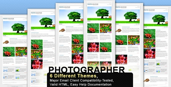 PHOTO-MAIL - Email Template - 6 Layouts - Newsletters Email Templates