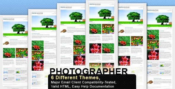 PHOTO-MAIL - Email Template - 6 Layouts