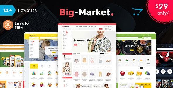 Big Market - Opencart Multi-Purpose Responsive Theme - Shopping OpenCart