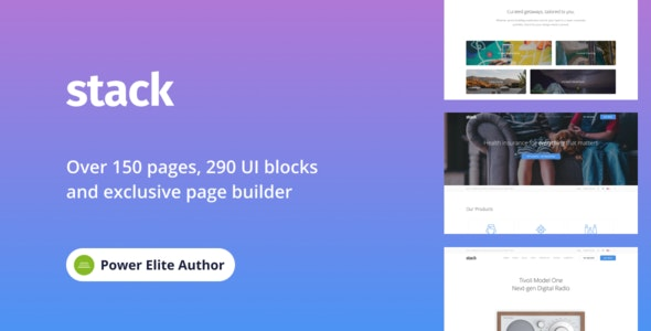 Stack Multi Purpose Wordpress Theme With Variant Page