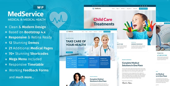 MedService - Medical Clinic Hospital WordPress Theme - Health & Beauty Retail