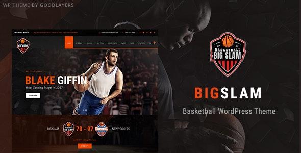 Big Slam Sport Clubs – Basketball WordPress