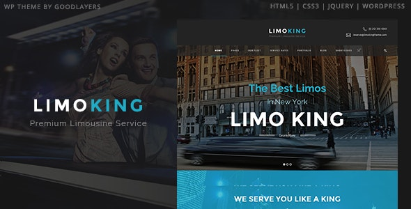 Limo King - Limousine / Transport / Car Hire - Entertainment WordPress