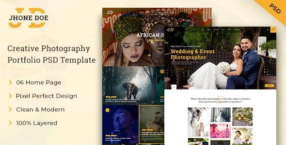 JD - Photography PSD Template - Photography Creative
