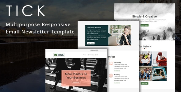 Tick - Multipurpose Responsive Email Template - Newsletters Email Templates