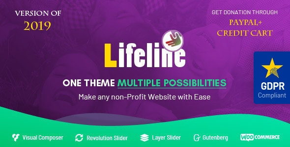 Lifeline - NGO, Fund Raising and Charity WordPress Theme by