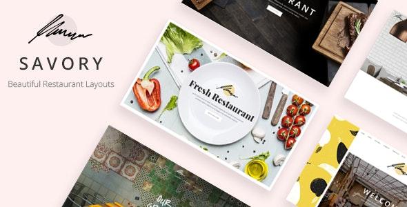 Savory - Restaurant Theme - Restaurants & Cafes Entertainment