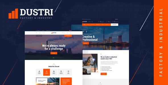 Dustri - Factory & Industrial HTML Template - Business Corporate