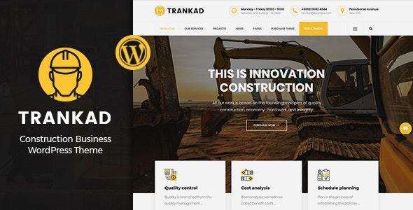 Trankad - Construction WordPress Theme - Business Corporate