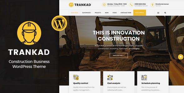 Trankad - Construction WordPress Theme