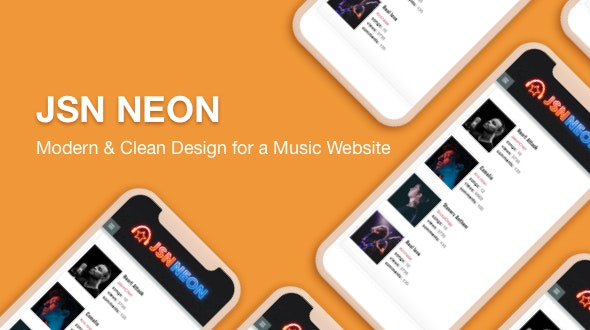 JSN Neon -  A Modern & Responsive Music Template for Joomla - Music and Bands Entertainment