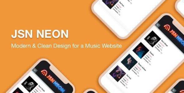 JSN Neon -  A Modern & Responsive Music Template for Joomla