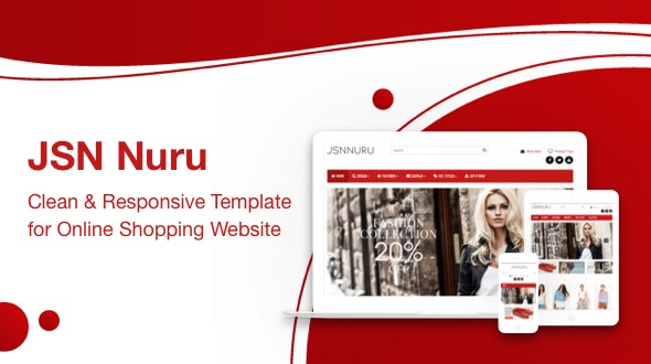 JSN Nuru - Responsive Joomla Template for Online Shopping Website - Retail Joomla